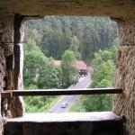 výhled z hradu Sloup