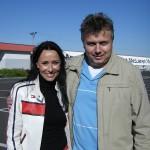 S milou Heidi Janků na autodromu v Mostě