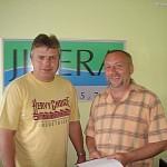 S panem Lubošem Dvořákem hud. ředitelem rádia Jizera