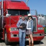 S Veronikou Dobrodinskou při natáčení klipu Ty, já a kamion